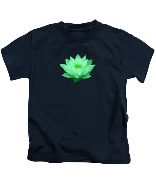 Green Lily Blossom Kids T-Shirt