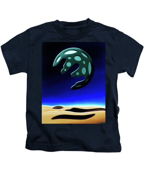 Green Moon Rising Kids T-Shirt