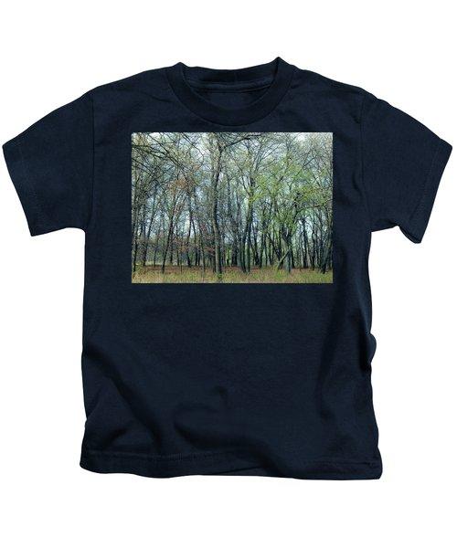 Green Pushing Out Kids T-Shirt