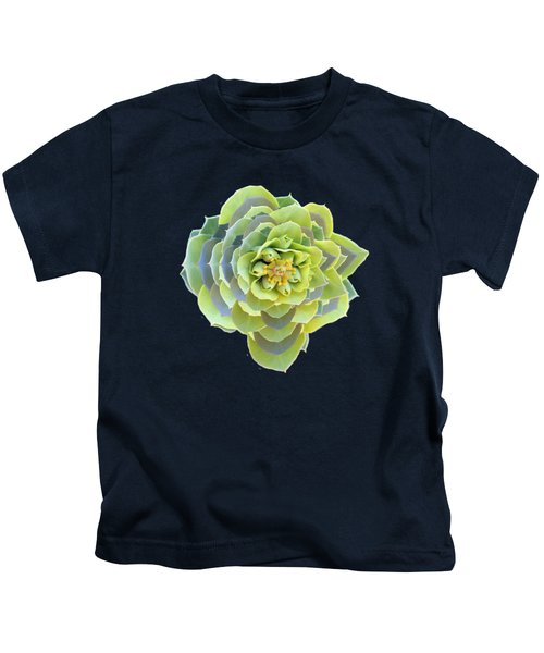 Green Weed Flower Kaliedoscope Kids T-Shirt