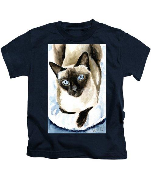 Guardian Angel - Siamese Cat Portrait Kids T-Shirt