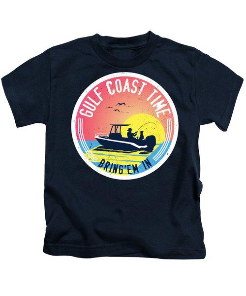 Gulf Coast Time Kids T-Shirt