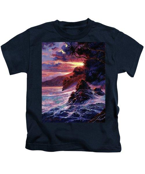Hawaiian Sunset - Kauai Kids T-Shirt