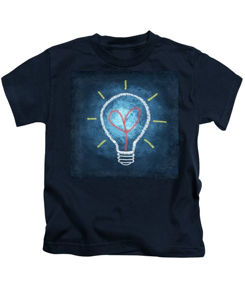 Heart In Light Bulb Kids T-Shirt