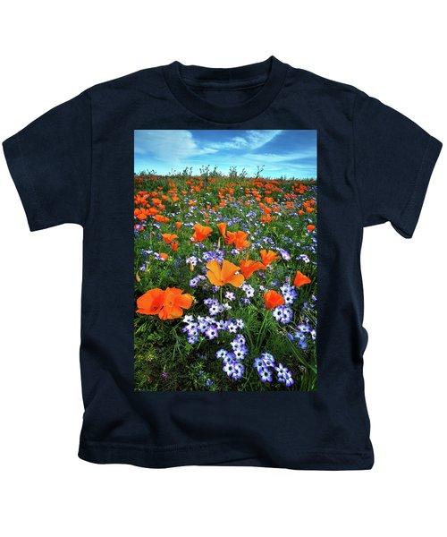 High Desert Wildflowers Kids T-Shirt