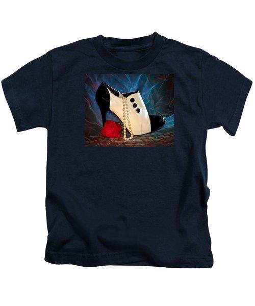 High Heel Spat Bootie Shoe Kids T-Shirt