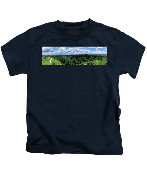 Hills And Clouds Kids T-Shirt