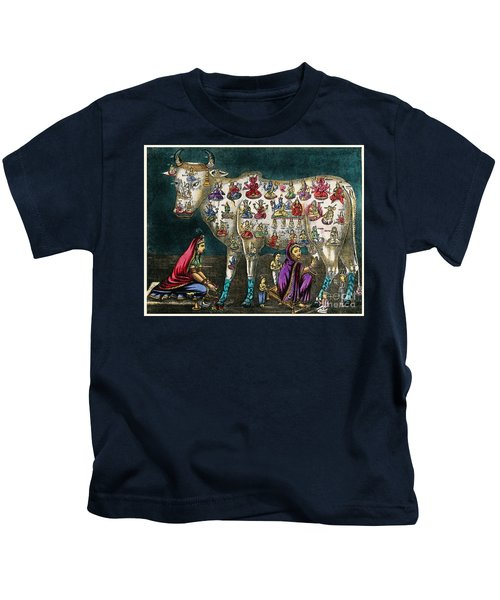 Hindu Cow As Mother Of The World Kids T-Shirt