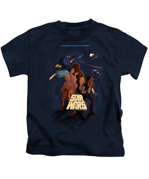 I Grew Up With Starwars Kids T-Shirt