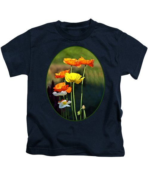 Iceland Poppies In The Sun Kids T-Shirt