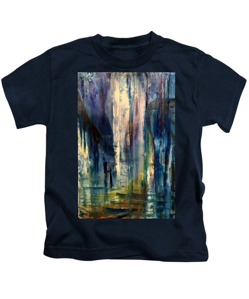 Icy Cavern Abstract Kids T-Shirt
