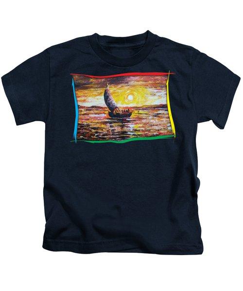 Island Sunset Kids T-Shirt