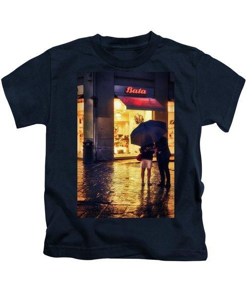 It Is Raining In Firenze Kids T-Shirt