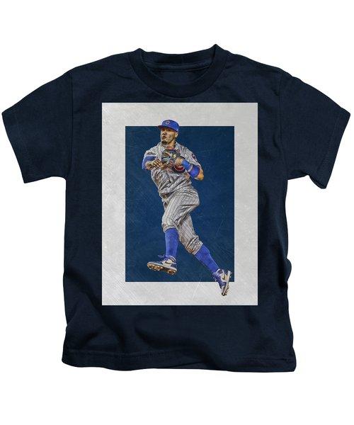 Javier Baez Chicago Cubs Art Kids T-Shirt