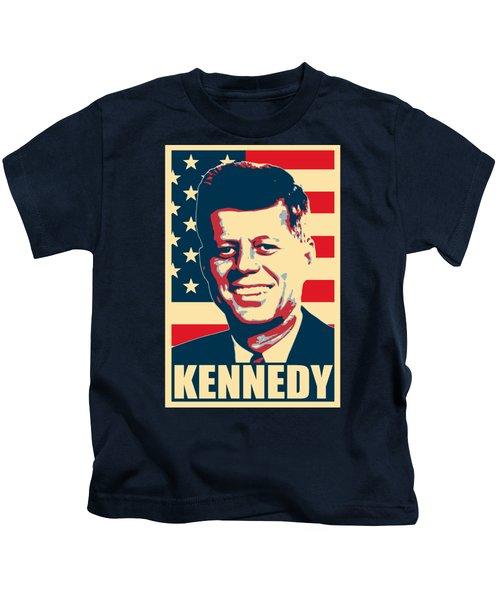 John F Kennedy American Propaganda Poster Art Kids T-Shirt
