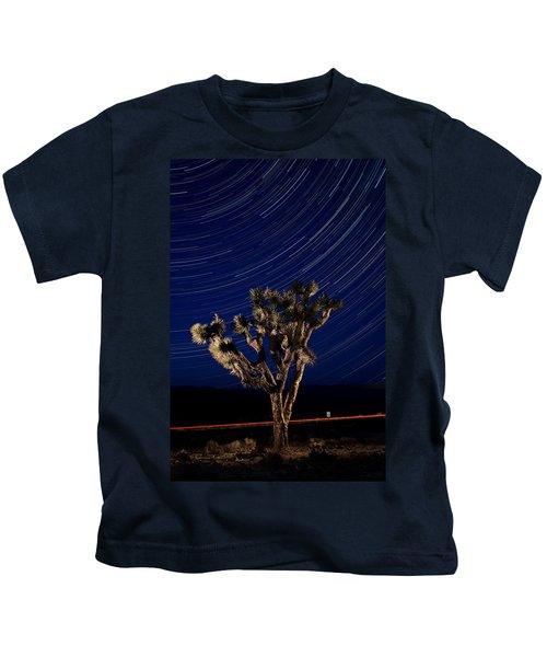 Joshua Tree And Star Trails Kids T-Shirt