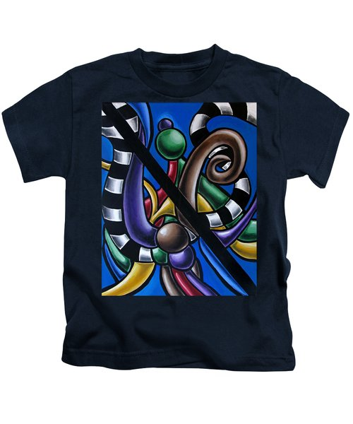 Original Colorful Abstract Art Painting - Multicolored Chromatic Artwork Kids T-Shirt