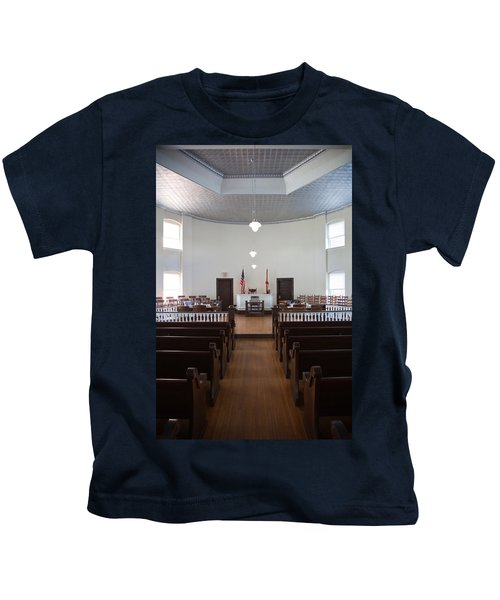 Jury Box In A Courthouse, Old Kids T-Shirt by Panoramic Images