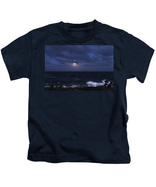 Kauai Moon At Poipu Kids T-Shirt