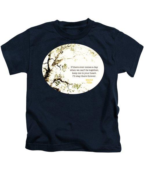 Keep Me In Your Heart Kids T-Shirt by Nancy Ingersoll