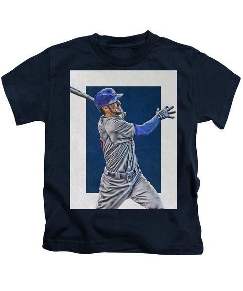 Kris Bryant Chicago Cubs Art 3 Kids T-Shirt
