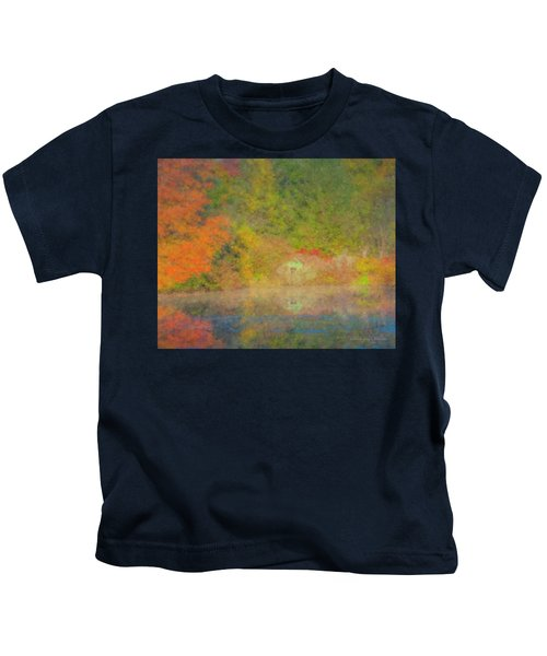 Langwater Pond Boathouse October 2015 Kids T-Shirt