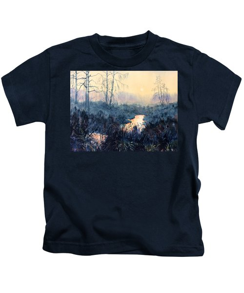 Last Light On Skipwith Marshes Kids T-Shirt