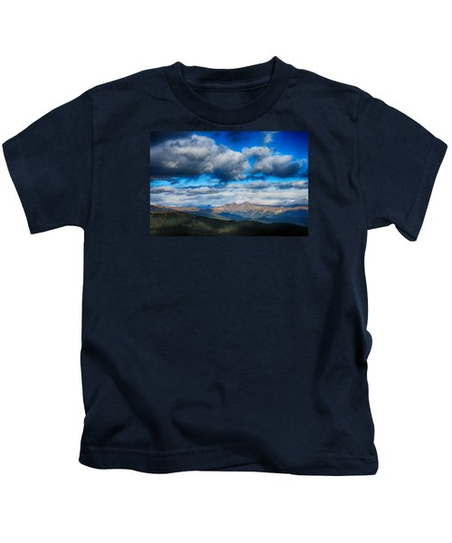 Layers Of Clouds On Mount Evans Kids T-Shirt