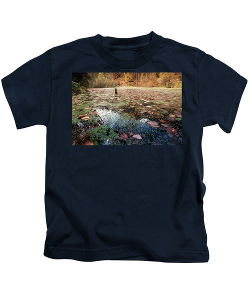 Leaves On The Lake Kids T-Shirt