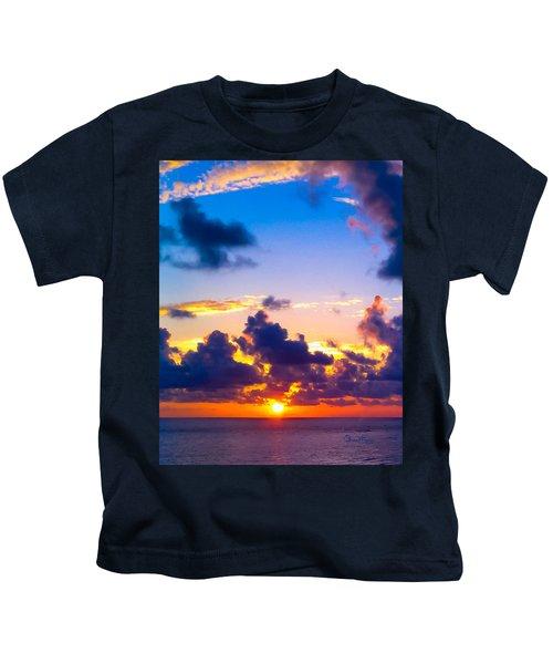 Kids T-Shirt featuring the photograph Lido Beach Sunset by Susan Molnar