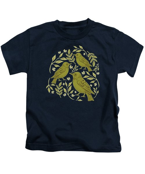 Little Wrens Hiding In The Hedgerow Kids T-Shirt
