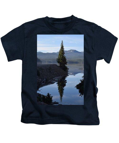 Lone Pine Reflection Chambers Lake Hwy 14 Co Kids T-Shirt