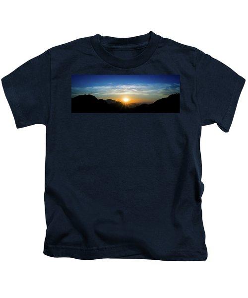 Los Angeles Desert Mountain Sunset Kids T-Shirt