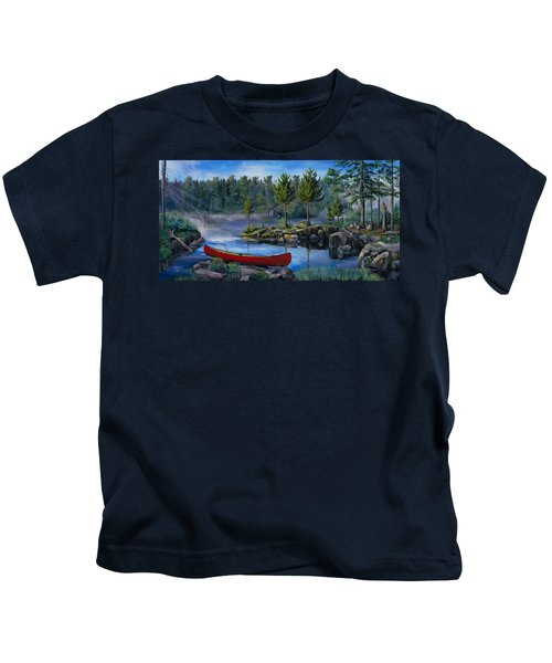 Lost In The Boundary Waters Kids T-Shirt