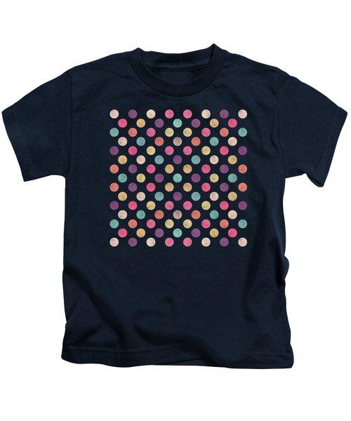 Lovely Polka Dots  Kids T-Shirt by Amir Faysal