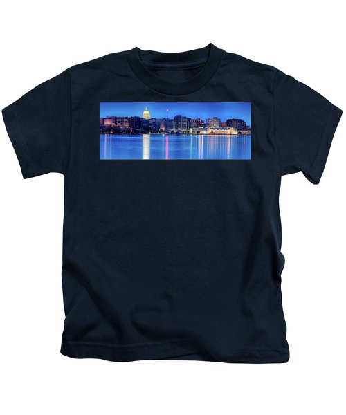 Madison Skyline Reflection Kids T-Shirt