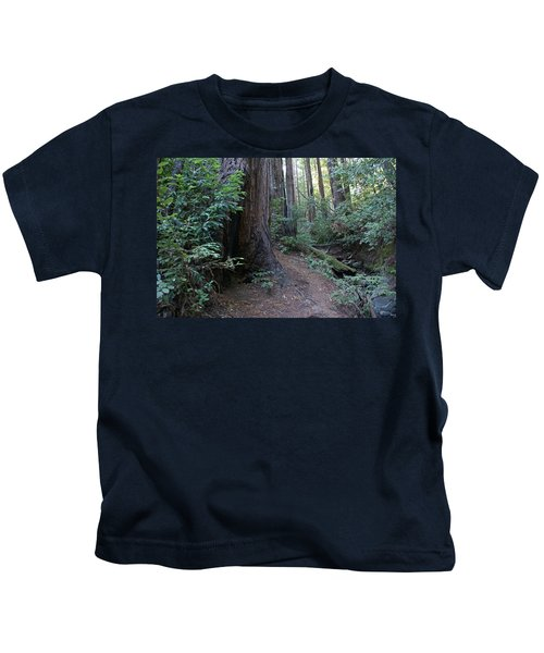Magical Path Through The Redwoods On Mount Tamalpais Kids T-Shirt