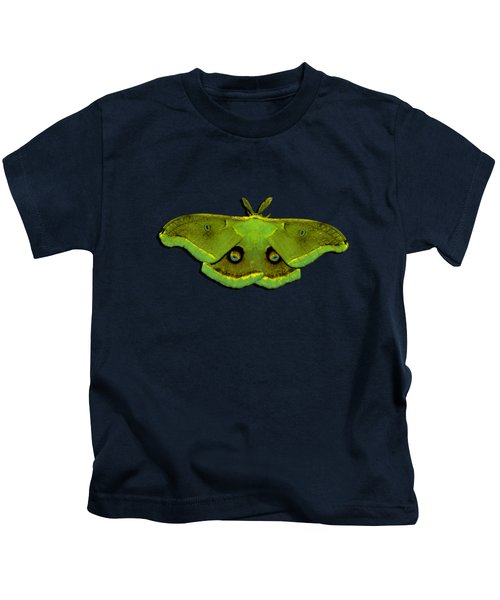 Male Moth Green And Yellow .png Kids T-Shirt