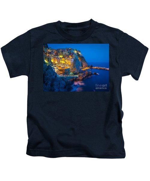 Manarola By Night Kids T-Shirt