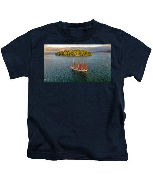 Margaret Todd Schooner Kids T-Shirt