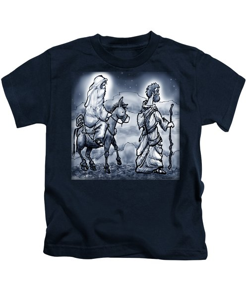 Mary And Joseph  Kids T-Shirt by Kevin Middleton