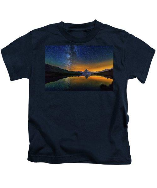 Matterhorn By Night Kids T-Shirt