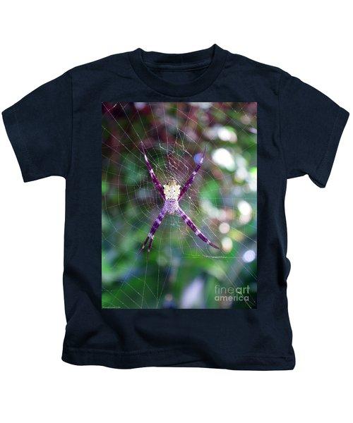 Maui Orbweaver/garden Spider Kids T-Shirt