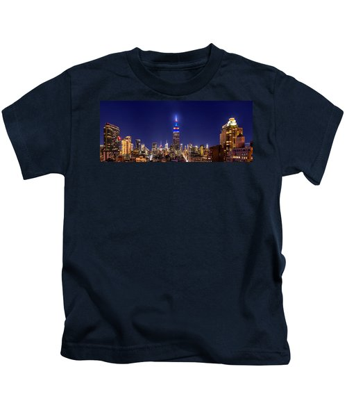 Mets Dominance Kids T-Shirt by Az Jackson