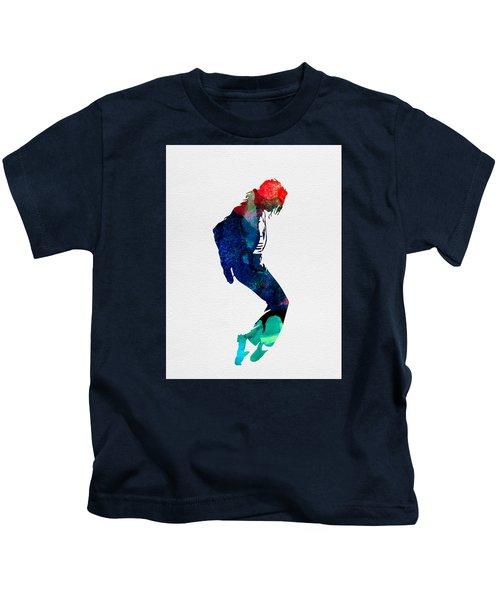 Michael Watercolor Kids T-Shirt by Naxart Studio