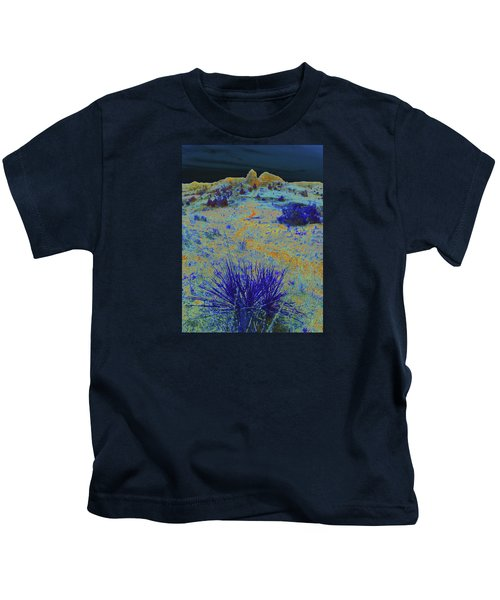 Midnight At The Burning Coal Vein Kids T-Shirt