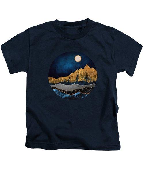 Midnight Desert Moon Kids T-Shirt