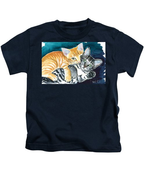 Milo And Tigger - Cute Kitty Painting Kids T-Shirt