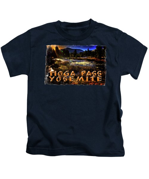 Mine Creek Between Lakes Ellery And Tioga Kids T-Shirt by Roger Passman