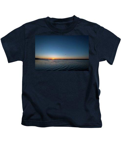 Mississippi River Sunrise Kids T-Shirt